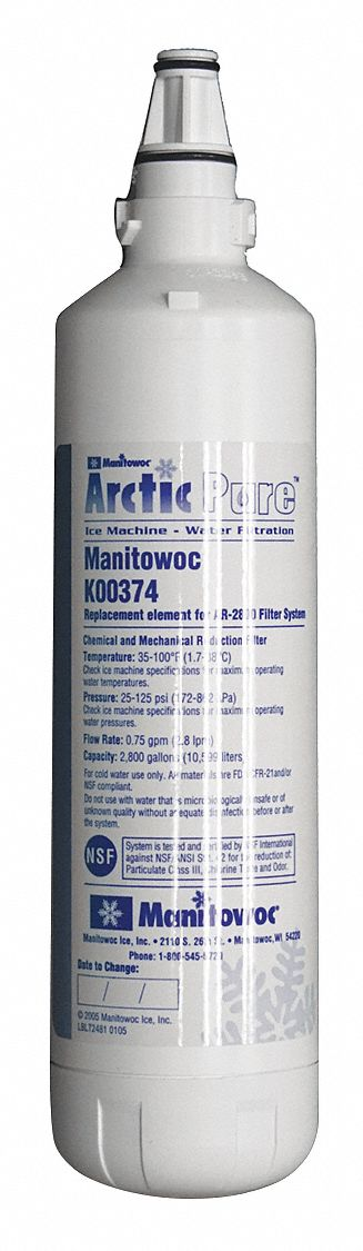 0.75 gpm Replacement Filter Cartridge,  Fits Brand Manitowoc,  For Use With Mfr. No. SM-50A