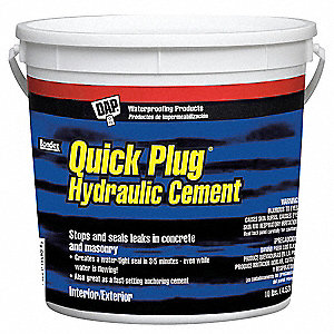 Gray Quick Plug Hydraulic Cement, 10 lb. Size, Coverage: Not Specified