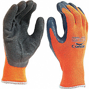 GLOVES THERMAL KNIT HI-VIS ORNGE 10