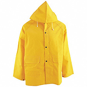JACKET RAIN SUPPORTED PVC/POLY,LARGE