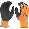 GLOVES KNIT LATEX PALM HI-VIS OR 9