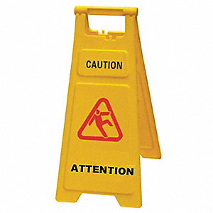 FLOOR SIGN CAUTION 27IN ENG/FR
