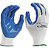 GLOVES NYLON KNIT NITRILE WHT/BLU 6