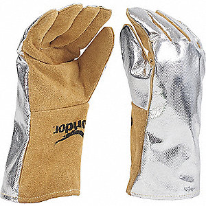 GLOVES WELDERS HI HEAT LEATHER/ALUM