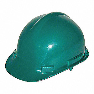 HAT SAFETY CSA HDPE RATCHET GREEN