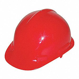 HAT SAFETY CSA HDPE RATCHET RED
