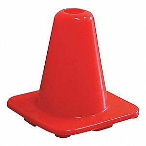 CONE TRAFFIC PVC ORANGE 6IN