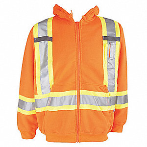 HOODIE TRAFFIC HI-VIS ORANGE L
