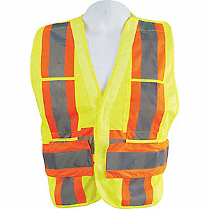 VEST, TRAFFIC YELLOW ONE SIZE
