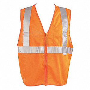 VEST TRAFFIC MESH ZIPPER ORANGE 3XL