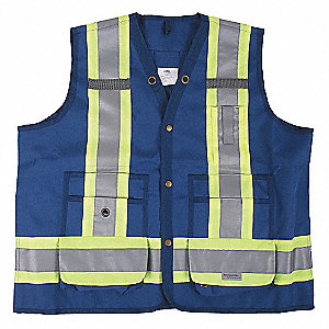 VEST SURVEYORS STANDARD BLUE 4XL