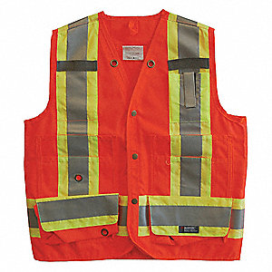 VEST SURVEYORS CSA ORANGE XS