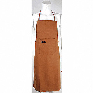 APRON DUCK COTTON BROWN