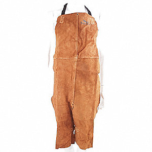 APRON SPLIT LEG LEATHER BROWN 24X42