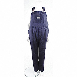 OVERALLS BIB COTTON FR NAVY 3XL