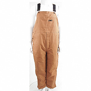 OVERALLS BIB DUCK COTTON BROWN M