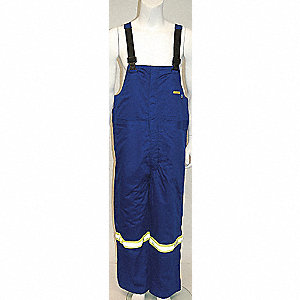 PANTS BIB NOMEX REFLCTVE BLUE XL