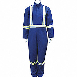 COVERALLS FR W/REFLECTIVE BLUE 62