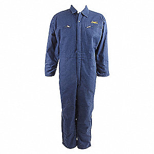 COVERALLS DUCK COTTON NAVY 2X