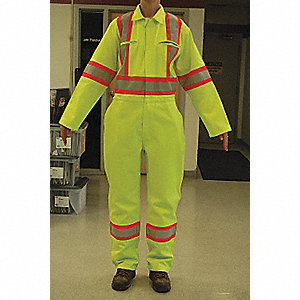 COVERALLS CSA TRAFFIC YELLOW 38