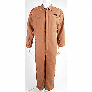 COVERALLS QUILTED POLY BROWN 3XL