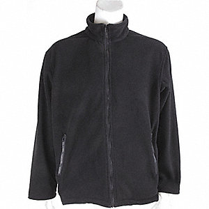 JACKET MID-WEIGHT FLEECE BLACK 3XL