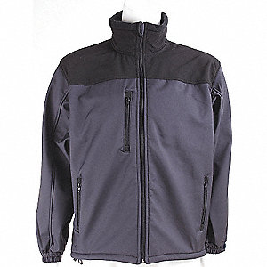 JACKET SOFT SHELL BLACK/GRAY 5X