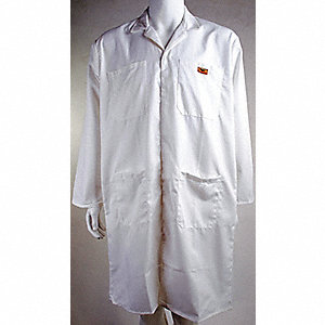 COAT SHOP POLY/COTTON WHITE 2XL