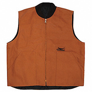 VEST THERMAL QUILTED POLY BROWN XL