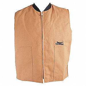 VEST THERMAL QUILTED POLY BROWN MED