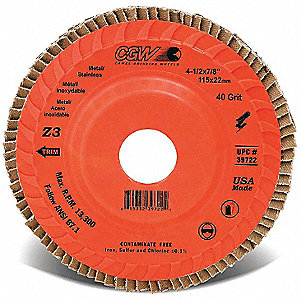 DISC FLAP TRIMMABLE 4-1/2X7/8 40G