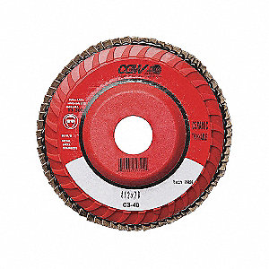 DISC FLAP CERAMIC 5X7/8 40GR