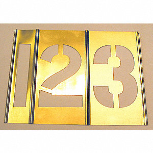 NUMBER SET BRASS STENCIL 5IN 15 PC