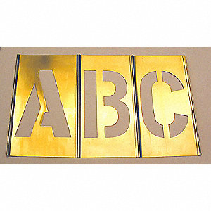 STENCIL BRASS COMBO SET 5IN 92PC