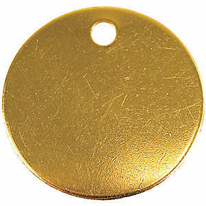 TAG BRASS 1-1/2IN 100/PK