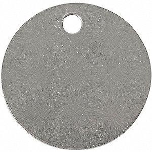 TAG ROUND STAINLESS STEEL 1-1/2IN