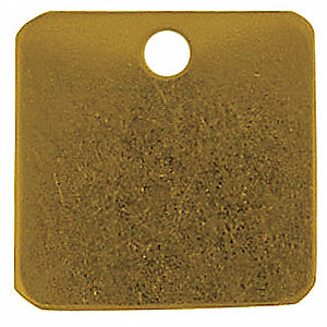 TAG SQUARE BRASS 1-1/2 INCH