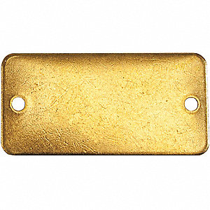 TAG RECTANGLE BRASS 1X2IN