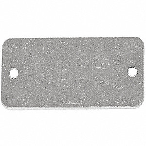 TAG RECTANGLE SS 1X2-1/2IN