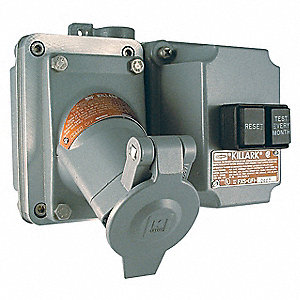 GFCI Receptacle, 120VAC Voltage, 20 Amps, Number of Poles: 2, Number of Wires: 3