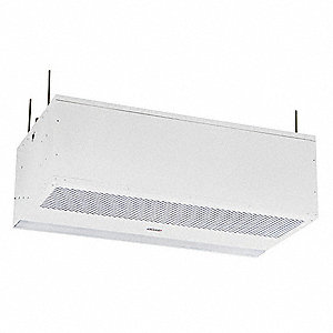 Recessed Air Curtain, 4 ft. Max. Door Width, 10 ft. Max. Mount Ht., 66 dBA @ 10 Feet, 2550 fpm
