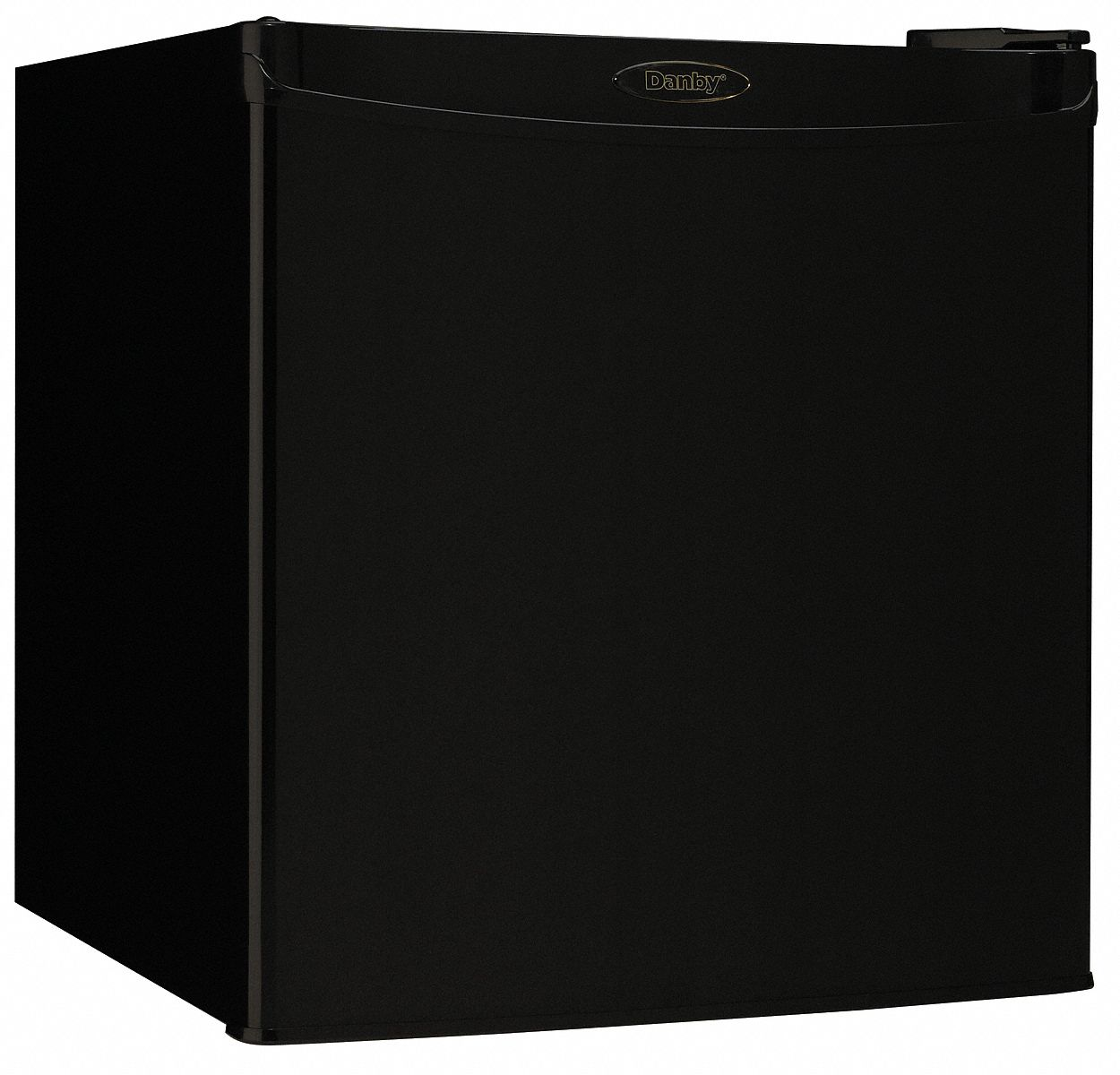 Compact Refrigerator with Freezer Section, Residential, Black, 17 5/8 in Overall Width