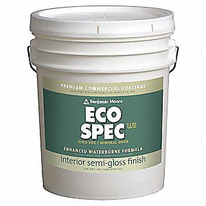 Interior Paint,Semi-Gloss,5 gal,Queens W