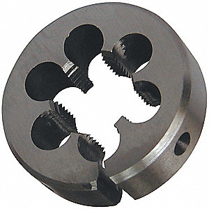 C.STEEL THREAD DIE1IN,3/8IN,24 PITC