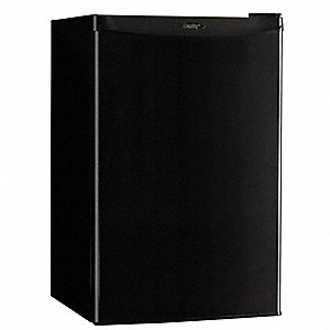 Refrigerator and Freezer,4.4 cu ft,Black
