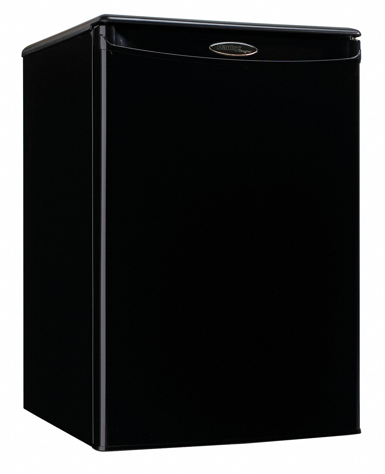 Refrigerator, Residential, Black, 17 5/8 in Overall Width, 2.6 cu ft Refrigerator Capacity