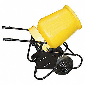 Wheelbarrow Mixer,3 1/2 Cu. Ft.,1/2HP