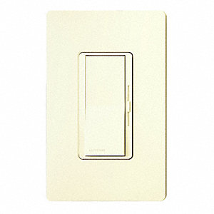 Lighting Dimmer, Decora, CFL, LED, Halogen, Incandescent Lamp Type, 1-Pole, 3-Way Switch Type