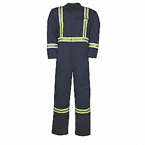 COVERALLS 7.5 OZ PROTERA W/ RFL NVY LG