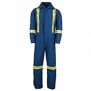 COVERALLS NOMEX W/REF STRP MED T